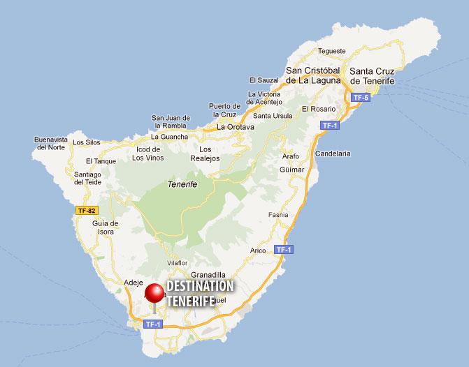 Mappa dell'isola di Tenerife