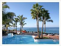 Widok z jednego z miejsc w Playa de Las Americas, Teneryfa