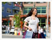 Lady cieszyć Zakupy na Teneryfie z bezcłowy torby