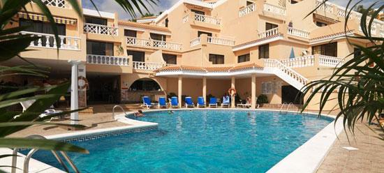 Hotel Paradise Court, położony w Playa de Las Americas, Teneryfa